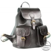 """Кожаный рюкзак """"Классик 2"""" (чёрный)"""