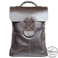 """Кожаный рюкзак """"Спэйс"""" (темно-коричневый)"""