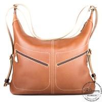 """Женская кожаная сумка-трансформер """"Афина"""" (коричневая)"""