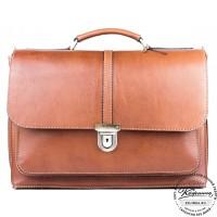 """Кожаный портфель ручной работы """"Ламберт"""" (коричневый)"""
