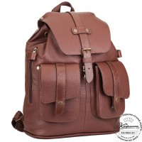 """Кожаный рюкзак ручной работы """"Эверест"""" (коричневый)"""