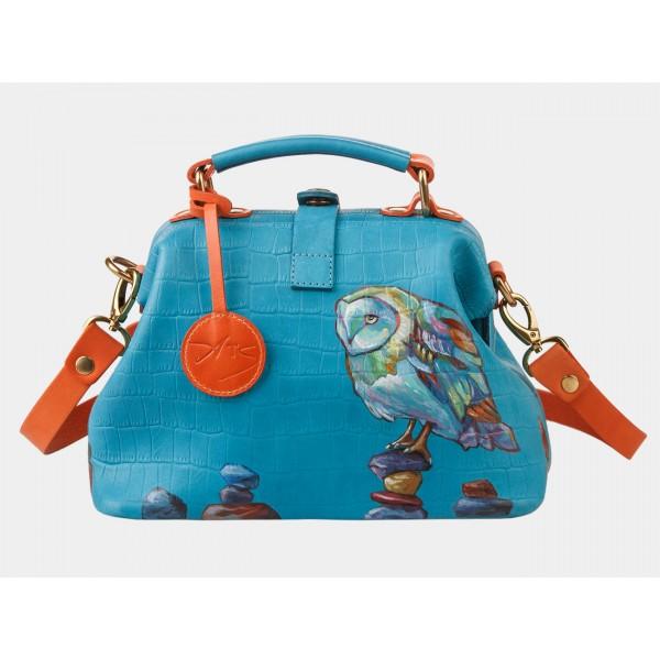 Женская кожаная сумка-саквояж «Даймондс». фото 1