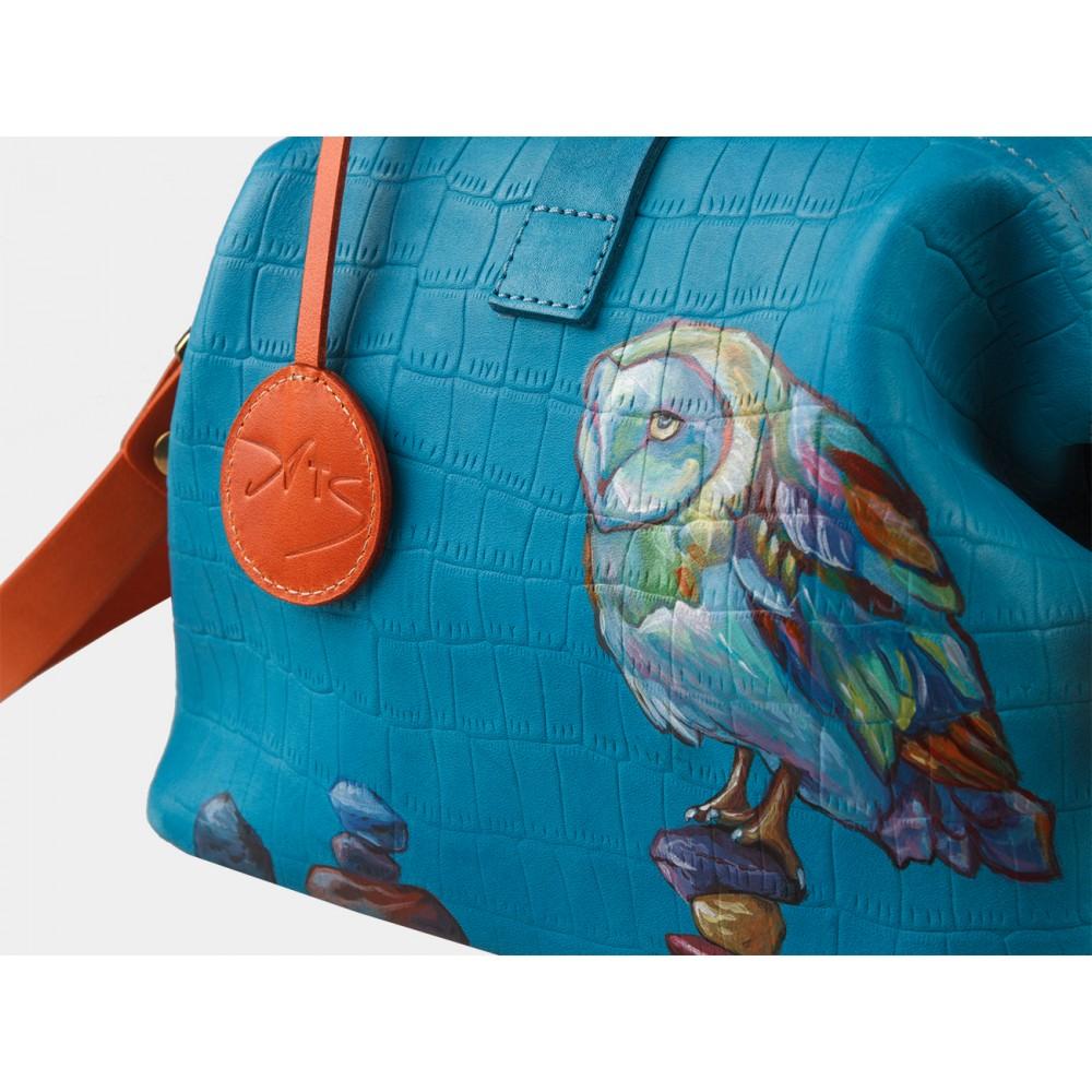 Женская кожаная сумка-саквояж «Даймондс»