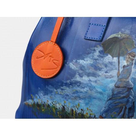 Женская кожаная сумка «Дама с зонтиком»