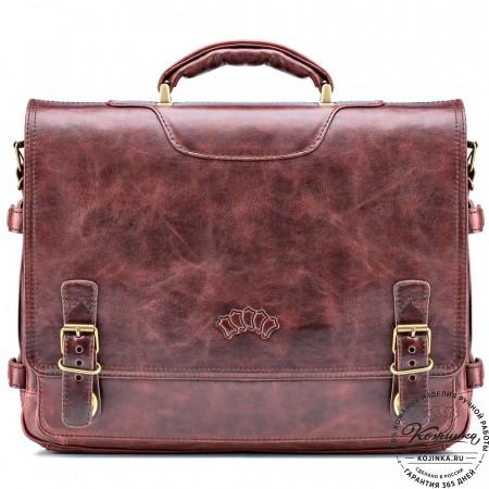 """Кожаный портфель """"Арамис"""" (коричневый антик)"""