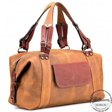 """Женская кожаная сумка """"Эколь New"""" (рыжий крейзи)"""
