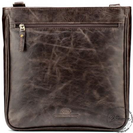 "Кожаная сумка ""Боб"" (тёмно-коричневый антик)"