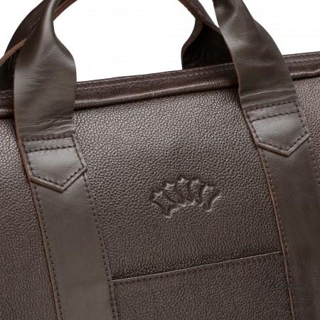 """Кожаная деловая сумка """"Дионис"""" (коричневая)"""