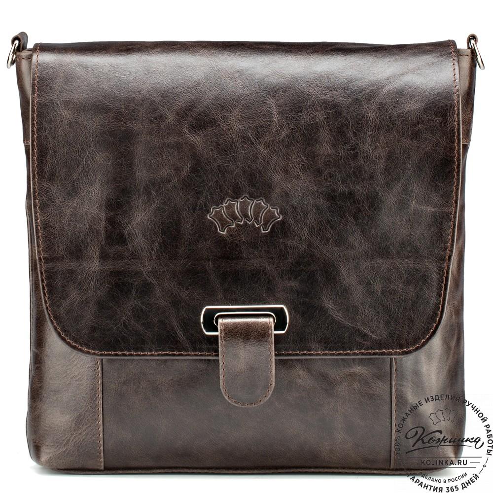 """Кожаная сумка """"Дуглас"""" (тёмно-коричневый антик)"""