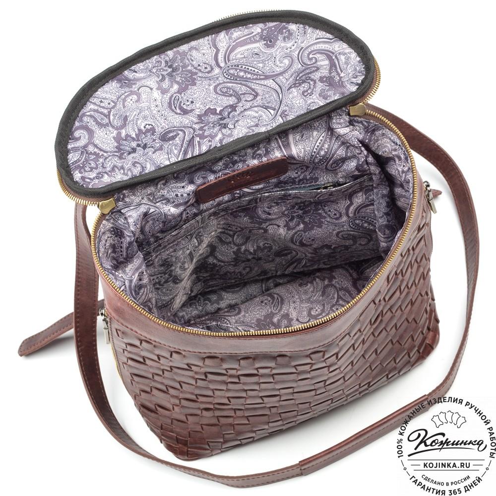 """Женский кожаный рюкзак """"Фелиция"""" (коричневый антик)"""
