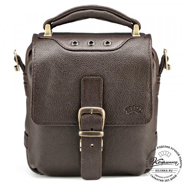 """Кожаная сумка через плечо """"Оливер"""" (коричневая) . фото 1"""