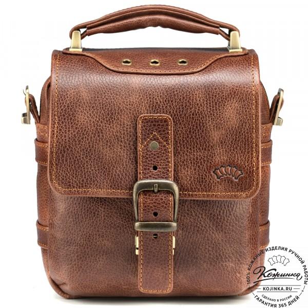 """Кожаная сумка через плечо """"Оливер"""" (светло-коричневая) . фото 1"""