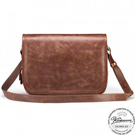 """Кожаная сумка """"Риана"""" (светло-коричневая)"""