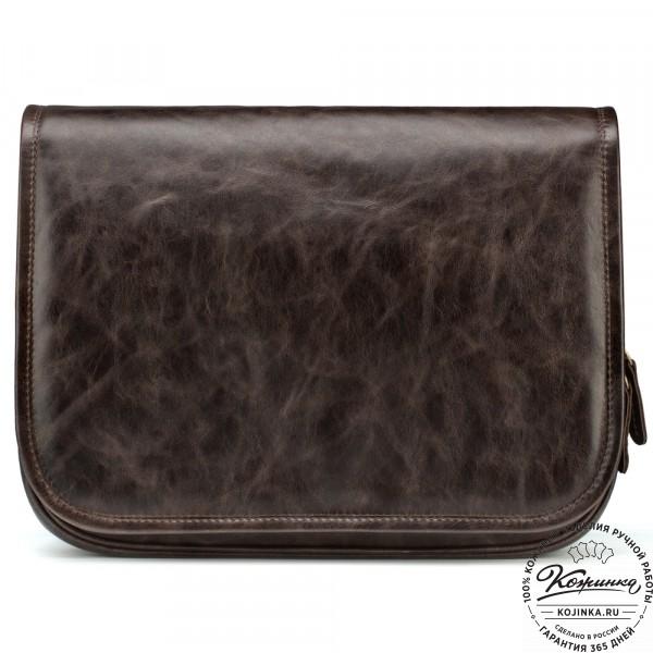 "Кожаная сумка ""Риана"" (тёмно-коричневый антик). фото 1"