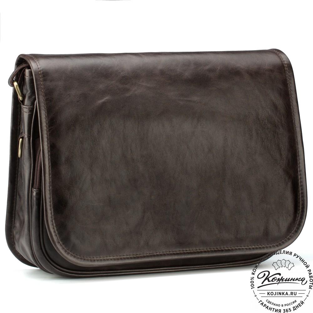 """Кожаная сумка """"Риана"""" (тёмно-коричневый антик)"""