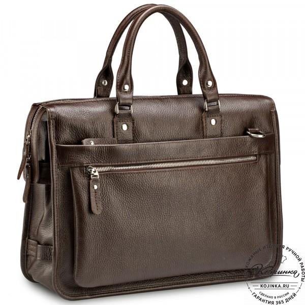 """Кожаная деловая сумка """"Вильямс"""" (коричневая) . фото 1"""