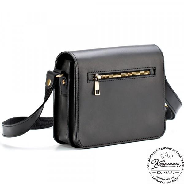 """Кожаная сумка """"Клаус"""" (черная). фото 1"""