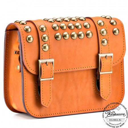 """Женская кожаная сумка """"Наоми"""" (оранжевая)"""