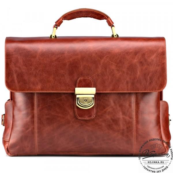 """Кожаный портфель """"Борменталь"""" (рыжий антик). фото 1"""