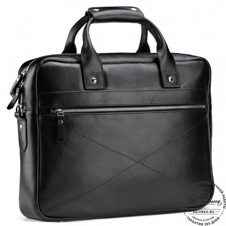 """Кожаная деловая сумка """"Андерсон"""" (чёрная)"""