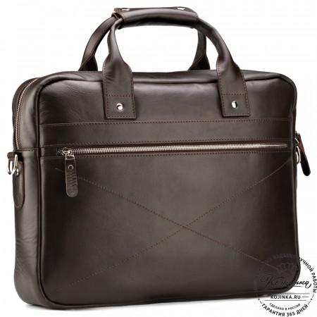 """Кожаная деловая сумка """"Андерсон"""" (коричневая)"""