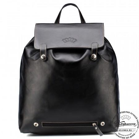 """Кожаный рюкзак """"Брук"""" (чёрный)"""
