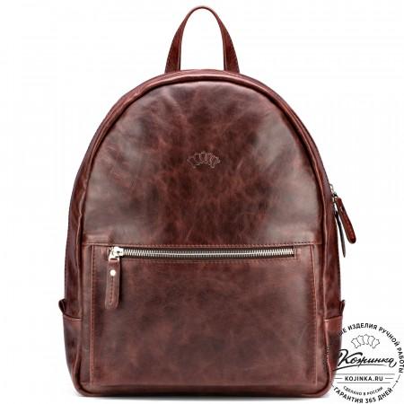 """Кожаный рюкзак """"Джессика"""" (коричневый антик)"""