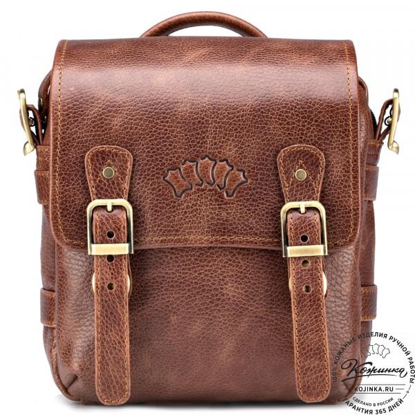 """Кожаная сумка через плечо """"Джек"""" (светло-коричневая) . фото 1"""