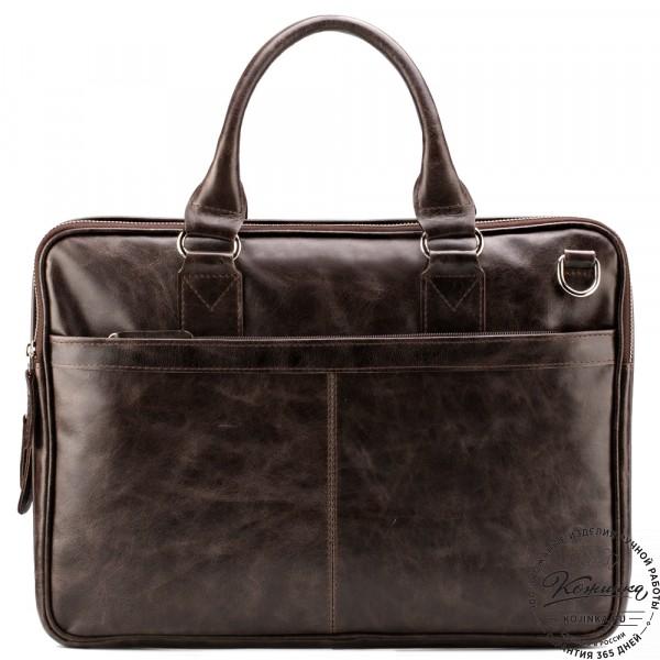 """Кожаная деловая сумка """"Кларк"""" (коричневый антик) . фото 1"""