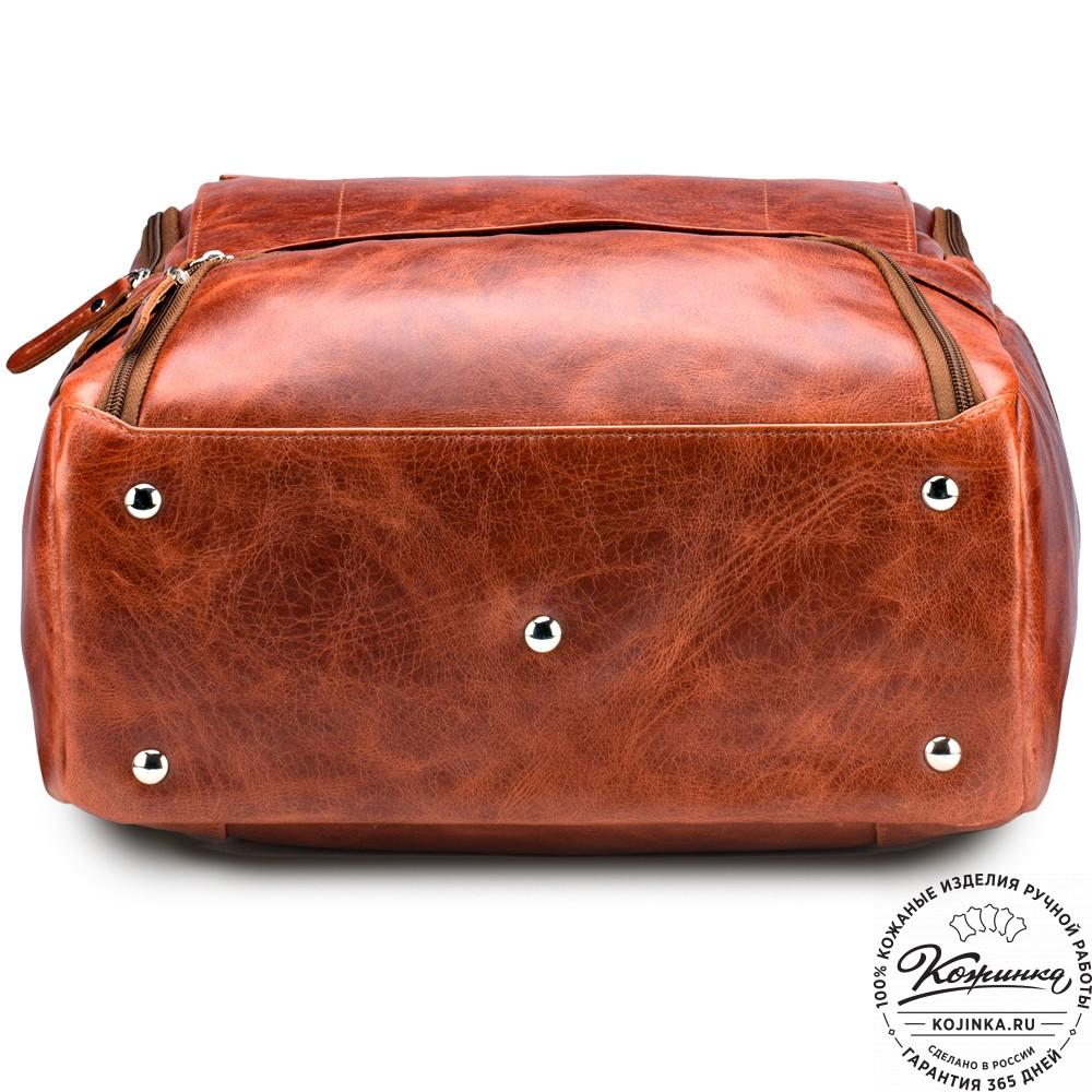 """Кожаный рюкзак """"Вена"""" (рыжий антик)"""