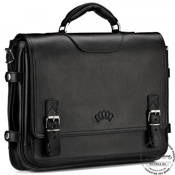 """Кожаный портфель """"Арамис"""" (черный). фото 1"""