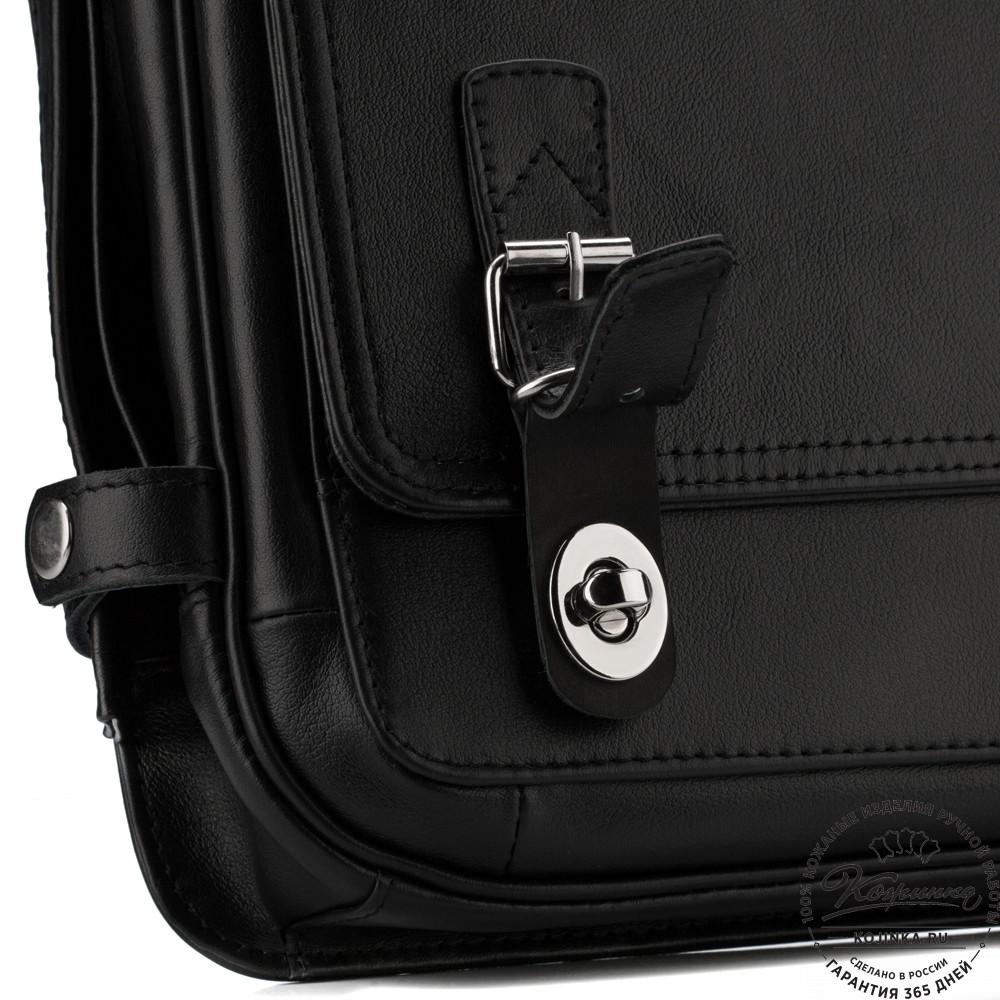 """Кожаный портфель """"Арамис"""" (черный)"""