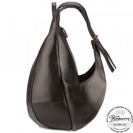 """Кожаный рюкзак """"Кевин"""" (тёмно-коричневый)"""