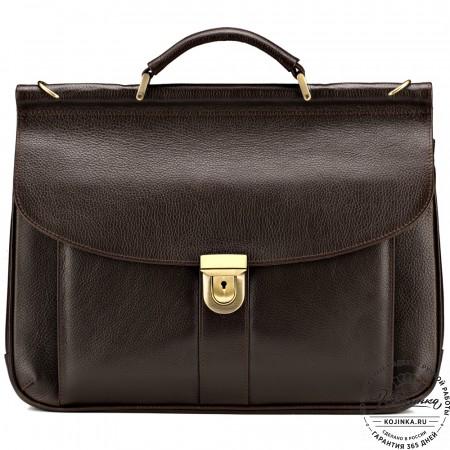 """Кожаный портфель """"Руби"""" (коричневый)"""