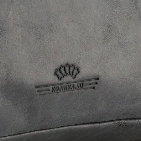 """Кожаная деловая сумка """"Доминик"""" (чёрный антик)"""