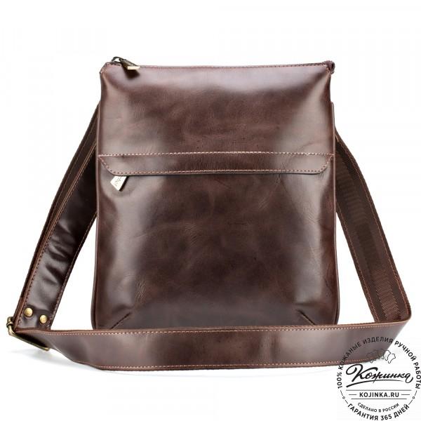 """Кожаная сумка """"Говард"""" (коричневый антик). фото 1"""