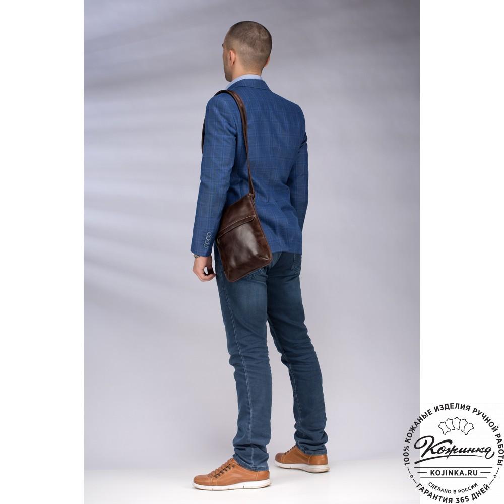 "Кожаная сумка ""Говард"" (коричневый антик)"