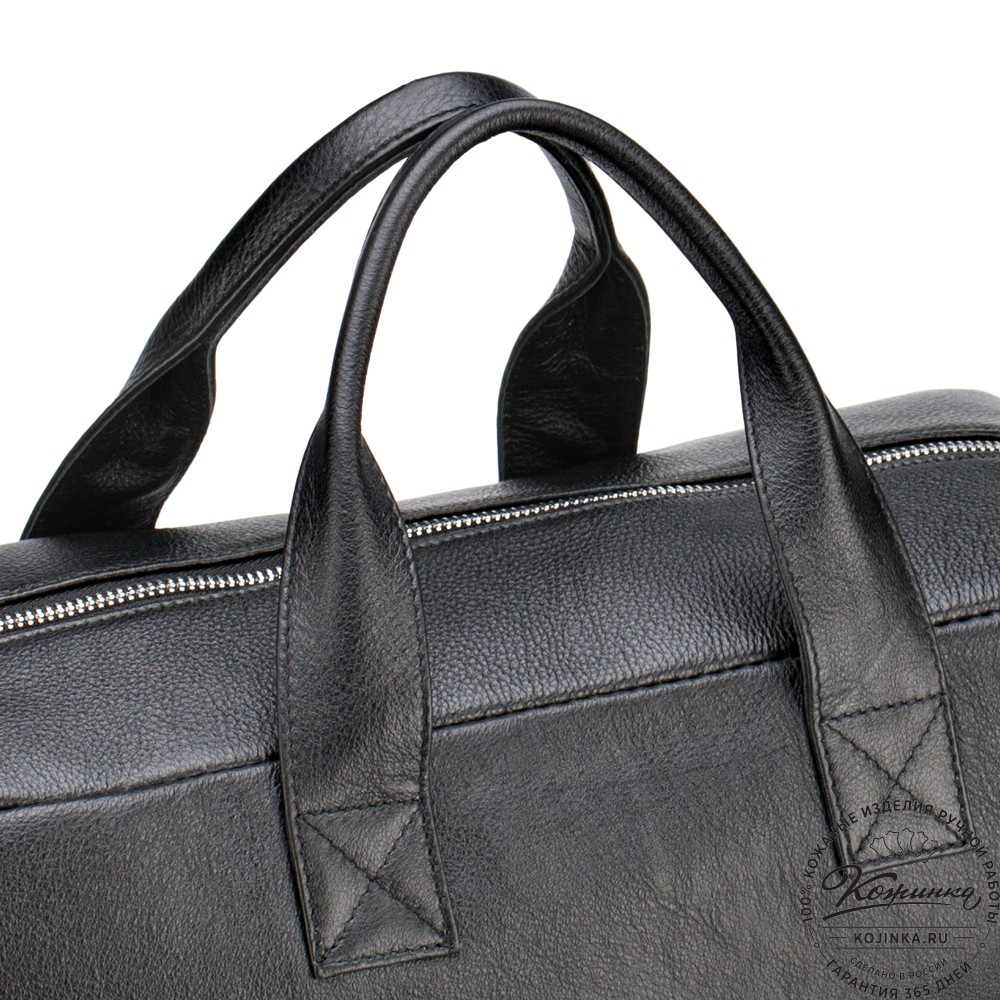 """Кожаная деловая сумка """"Райли"""" (чёрная)"""