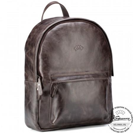 """Кожаный рюкзак """"Стефания"""" (тёмно-коричневый антик)"""
