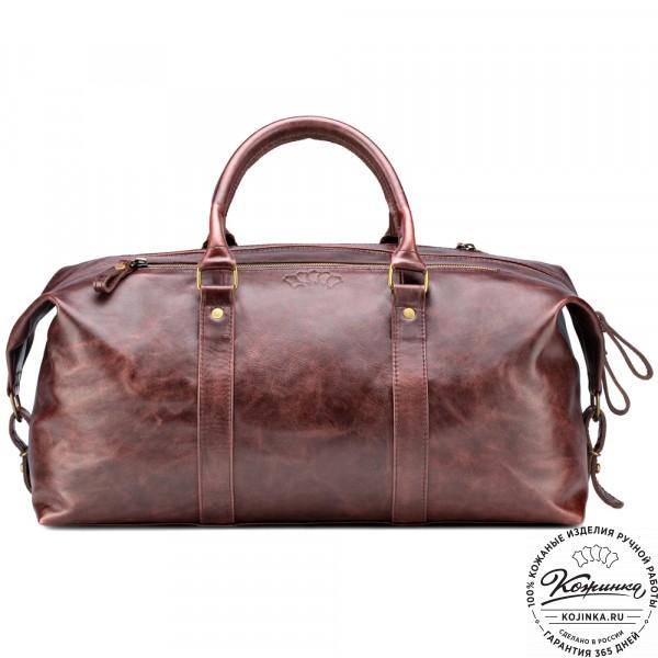 Кожаная дорожно-спортивная сумка Англия (коричневый антик). фото 1