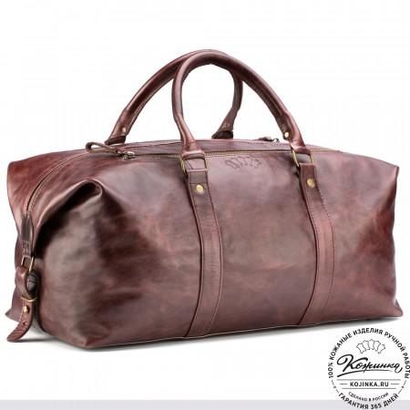 Кожаная дорожно-спортивная сумка Англия (коричневый антик)