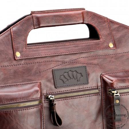 """Кожаная деловая сумка """"Диего"""" (коричневый антик)"""