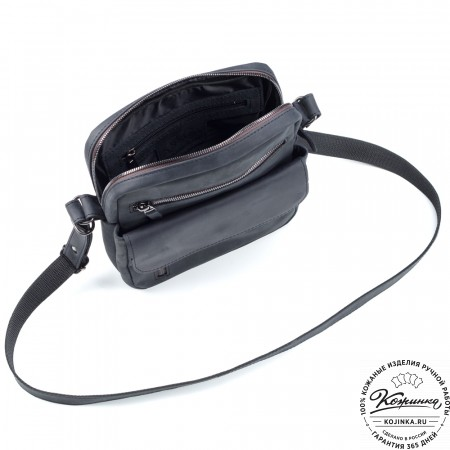 """Кожаная сумка """"Эквадор"""" (чёрный крейзи)"""