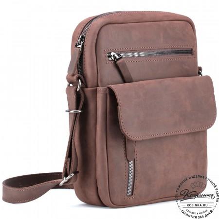 """Кожаная сумка """"Эквадор"""" (коричневый крейзи)"""