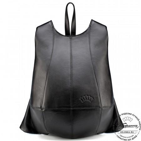 """Кожаный рюкзак """"Кевин"""" (чёрный)"""
