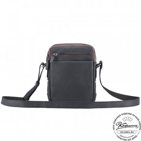 """Кожаная сумка """"Венесуэла"""" (чёрный крейзи)"""
