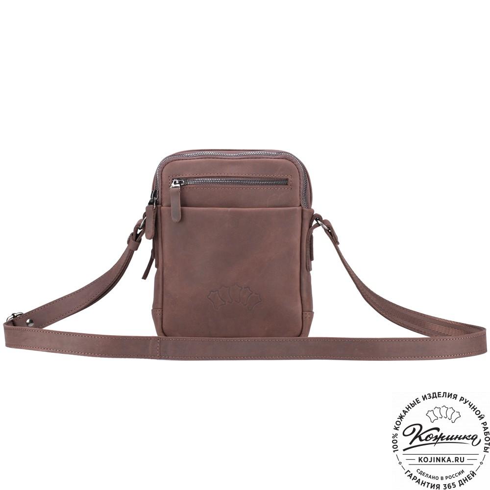 """Кожаная сумка """"Венесуэла"""" (коричневый крейзи)"""