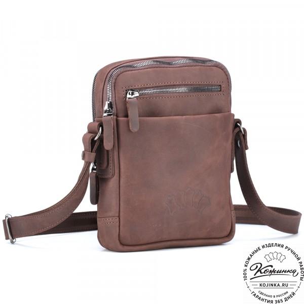 """Кожаная сумка """"Венесуэла"""" (коричневый крейзи). фото 1"""