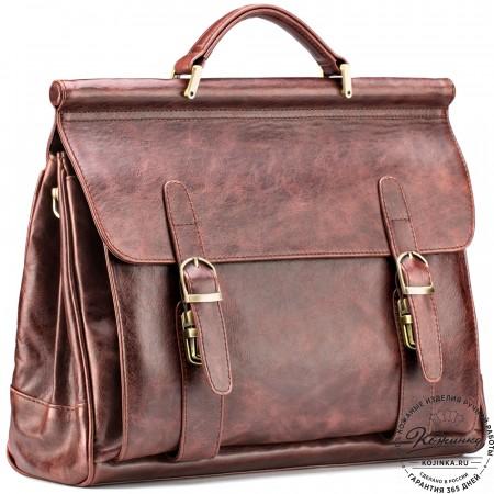 """Кожаный портфель """"Версаль"""" (коричневый антик)"""