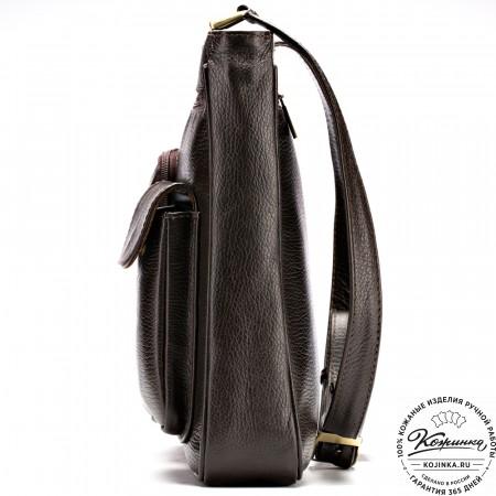 """Кожаная сумка """"Боб"""" (коричневая)"""